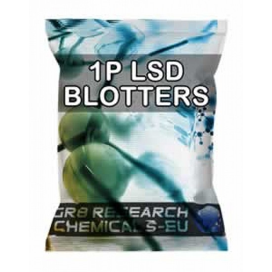 Package containing 1P-LSD Blotters -100mcg research chemical