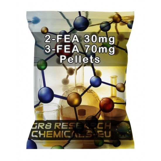 Package containing 2-FEA & 3-FEA Pellets research chemical