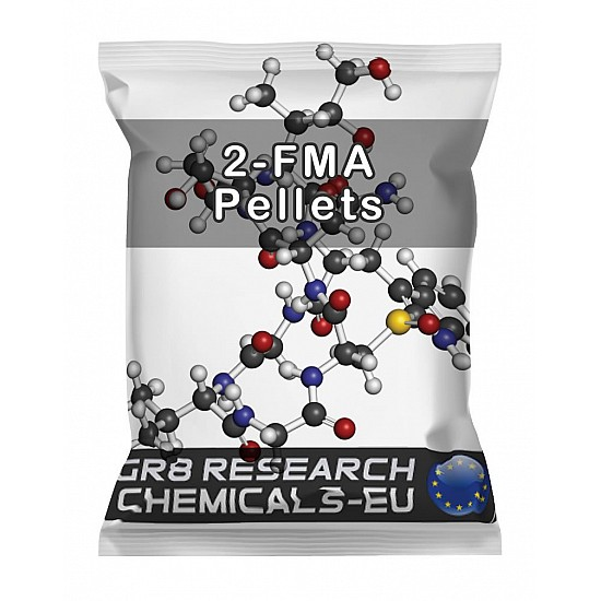 Package containing 2-FMA Hydrochloride Pellets research chemical