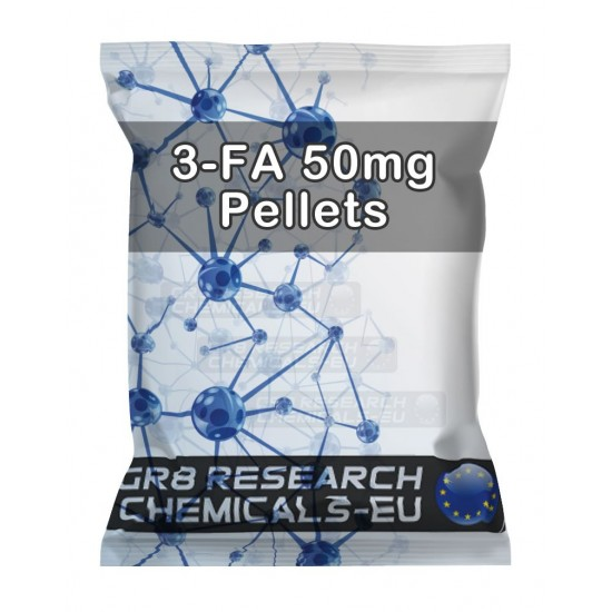 Package containing 3-FA Pellets - 50mg research chemical