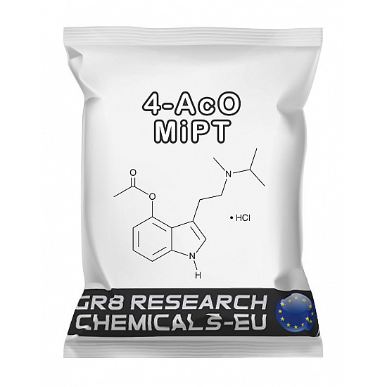 Package containing 4-AcO-MiPT Fumarate research chemical