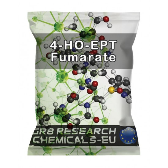 Package containing 4-HO-EPT Fumarate research chemical