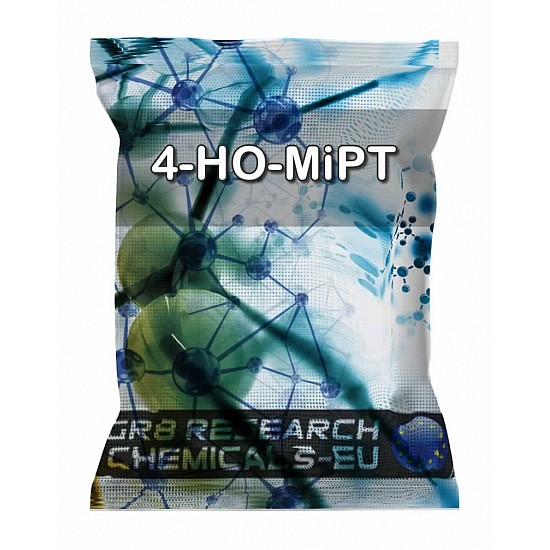 Package containing 4-HO-MiPT Fumarate Pellets - 20mg research chemical