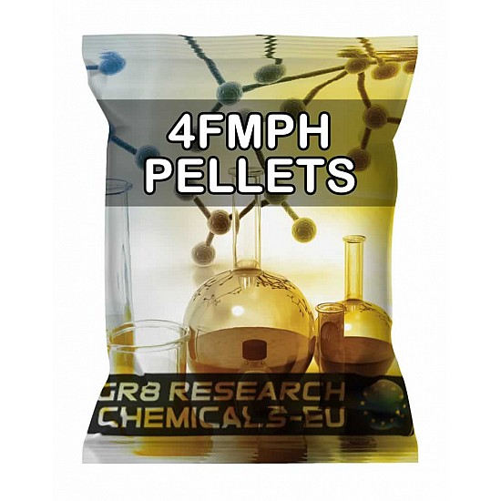Package containing 4F-MPH Pellets research chemical