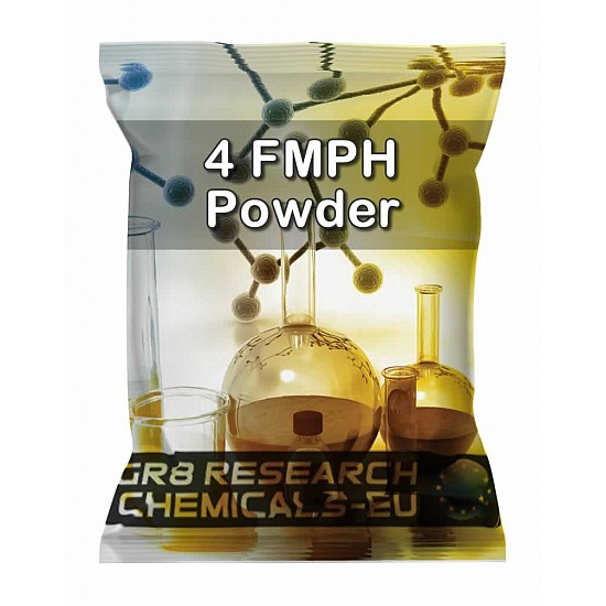 Package containing 4F-MPH Powder research chemical