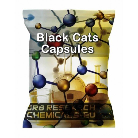 Package containing Black Cats Capsules research chemical