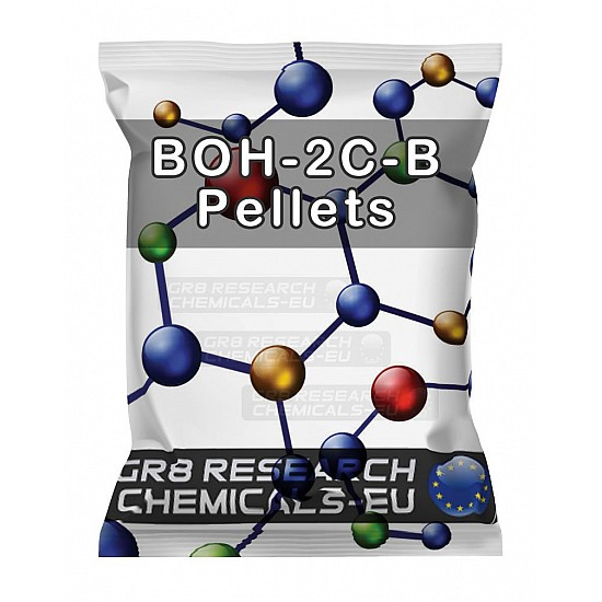 Package containing BOH-2C-B 60mg Pellets research chemical