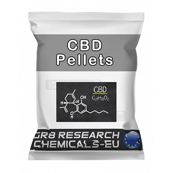 Package containing CBD Pellets - 25mg research chemical