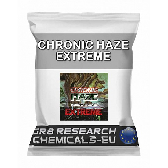 Package containing CHRONIC HAZE EXTREME research chemical