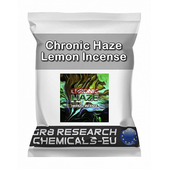 Package containing Chronic Haze Lemon Incense research chemical