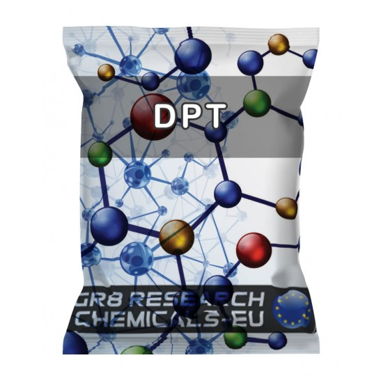 Package containing DPT that is available to buy, and also showing the chemical formula