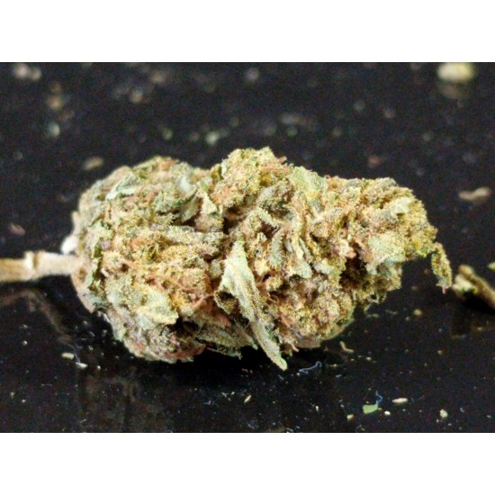 Package containing Hemp CBD Buds - 6% CBD that is available to buy, and also showing the chemical formula