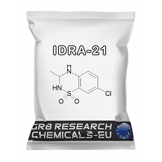 Package containing IDRA-21 research chemical