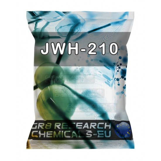 Package containing JWH-210 research chemical