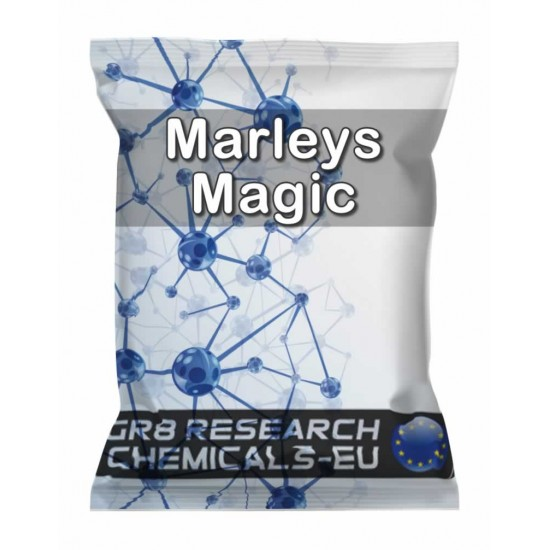 Package containing MARLEYS MAGIC research chemical