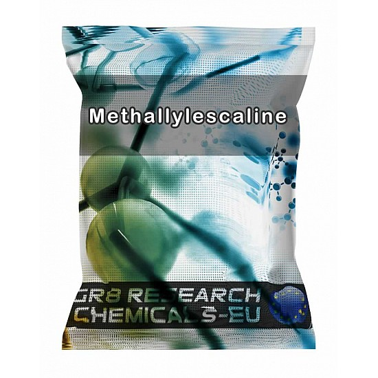 Package containing Methallylescaline Fumarate research chemical