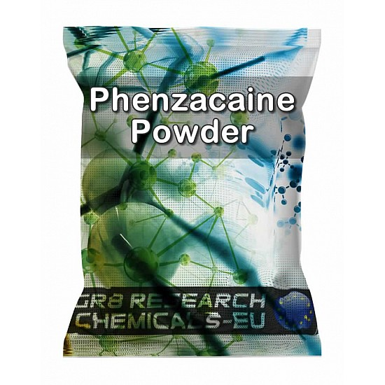 Package containing Phenzacaine Powder research chemical
