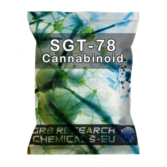Package containing SGT-78 Cannabinoid research chemical