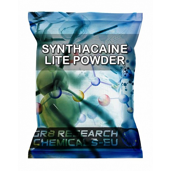 Package containing Synthacaine Lite Powder research chemical