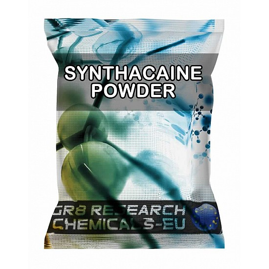 Package containing Synthacaine Powder research chemical